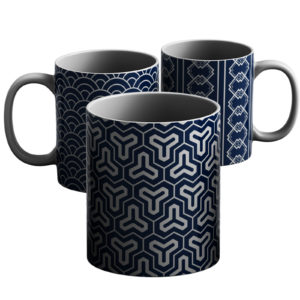 Japanese Traditional Geometric Pattern Design – Printed Mug