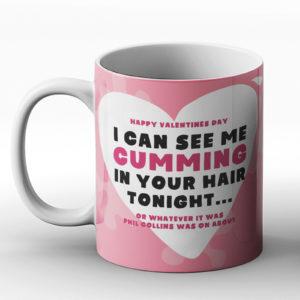 Rude Misheard Lyrics Valentines – Printed Mug