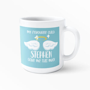 My Favourite Child Gave Me This Mug – Personalised Fathers Day Printed Mug – Daddy Mug – Work Cup – Coffee Tea –  Kids Gifts – Present for Dads Birthday – Father Brother Gift