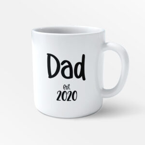 Dad – Personalised Date Fathers Day Printed Mug – Daddy Mug – Work Cup – Coffee Tea –  Kids Gifts – Present for Dads Birthday – Father Brother Gift