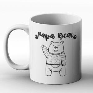 Papa Bear – Cute Drawing Design – Printed Mug