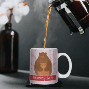 Mummy Bear – Cute Cartoon Bear – Printed Mug