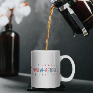 MUM-AZING! – Bright Colourful Design – Printed Mug