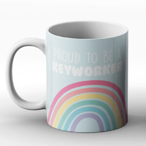Proud To Be A Keyworker Fun Design – Printed Mug
