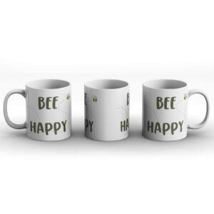 Bee Happy – Printed Mug