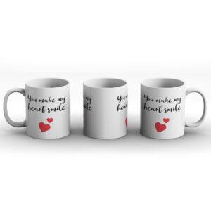 You Make My Heart Smile – Printed Mug