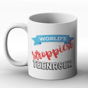 World's Stroppiest Teenager – Printed Mug