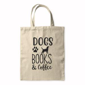 Dogs Books & Coffee – Tote Bag