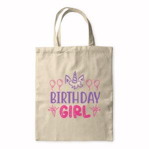 Birthday Girl – Unicorn Design – Tote Bag