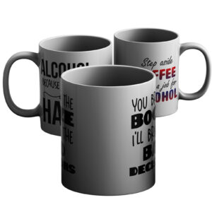 Dramatic And Drinky – Printed Mug