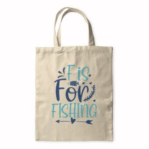 F Is For Fishing – Tote Bag