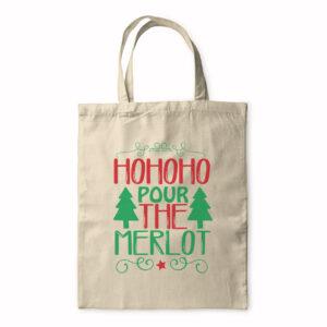 Hohoho Pour The Merlot – Tote Bag
