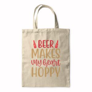 Beer Makes My Heart Hoppy – Tote Bag