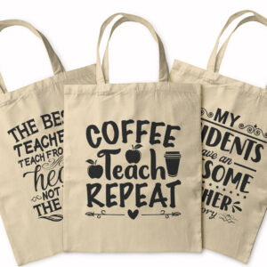 Coffee Teach Repeat – Tote Bag