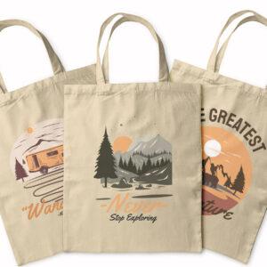 Never Stop Exploring – Adventure Set – Tote Bag