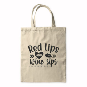 Red Lips And Wine Sips – Tote Bag