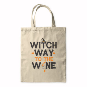Witch Way To The Wine? – Halloween Design – Tote Bag