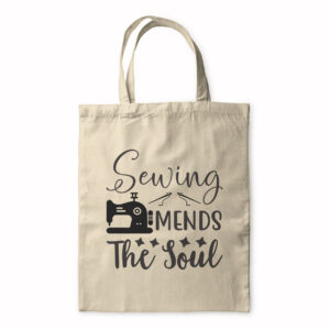 Sewing Mends The Soul – Tote Bag