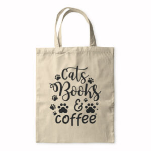 Cats Books And Coffee – Tote Bag