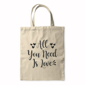 All You Need Is Love – Handwritten – Tote Bag