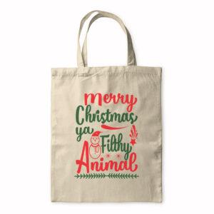 Merry Christmas Ya Filthy Animal – Tote Bag