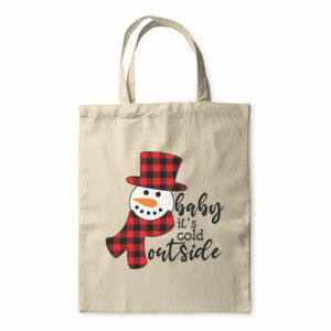 Baby It's Cold Outside – Snowman – Tote Bag
