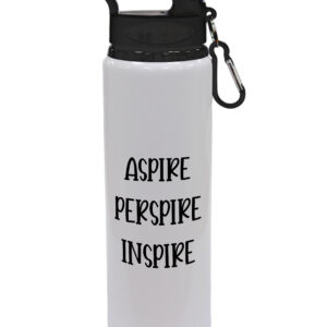 Aspire Perspire Inspire – Motivational – Drinks Bottle