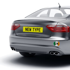 Ireland Flag UK Oval Bumper Sticker for Travel Abroad
