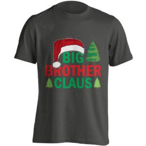 Christmas Clothing – Big Brother Claus – Black Adult T-shirt (SM-5XL)