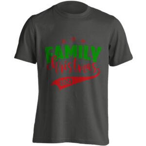 Christmas Clothing – Family Christmas 2021 – Black Adult T-shirt (SM-5XL)