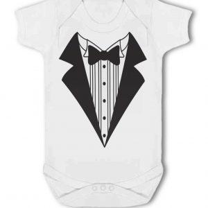Tuxedo, Bowtie, Shirt design – Baby Vest