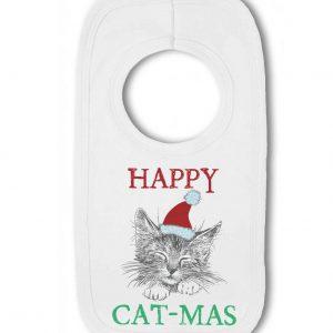 Happy Cat-Mas …funny christmas – Baby Pullover Bib