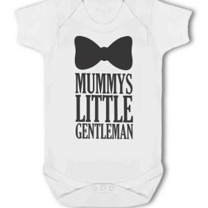 Mummys Little Gentleman with Bow Tie design – Baby Vest