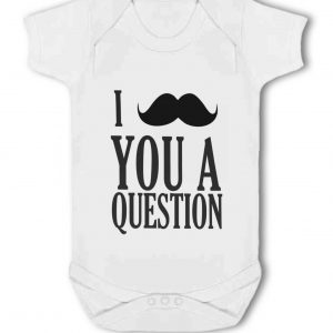 I Moustache You A Question – Baby Vest