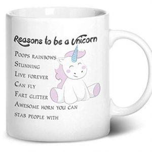 6 Reasons to be a Unicorn – Printed Mug