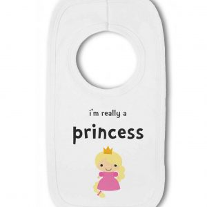 Im Really a Princess funny – Baby Pullover Bib