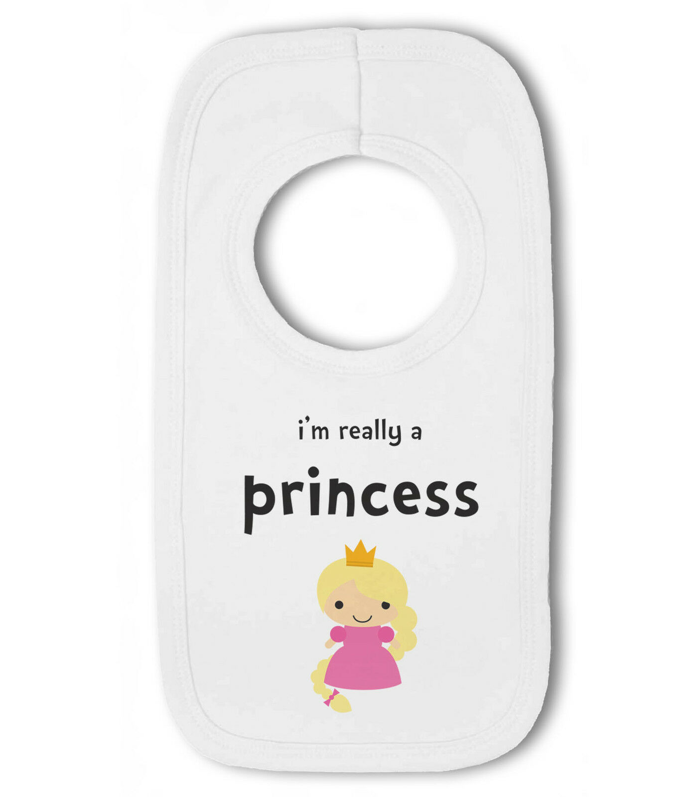 Even a Princess must Poop funny Baby Pullover Bib by BWW Print Ltd