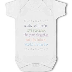 A Baby Makes Love Stronger cute – Baby Vest