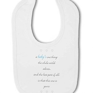 A Baby The Whole World Adores Blue Boy – Baby Bib