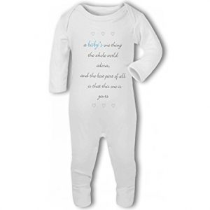 A Baby The Whole World Adores Blue Boy – Baby Romper Suit