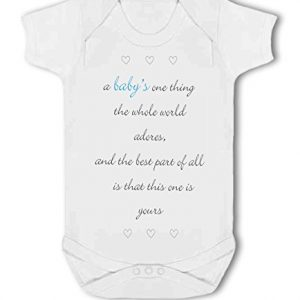 A Baby The Whole World Adores Blue Boy – Baby Vest