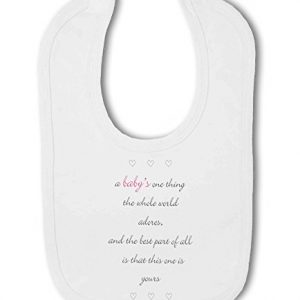 A Baby The Whole World Adores Pink Girl – Baby Bib