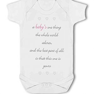A Baby The Whole World Adores Pink Girl – Baby Vest