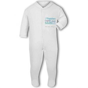 A Baby is Love, Happiness, Cuddles, Kisses, Smiles blue – Baby Grow