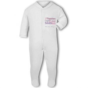 A Baby is Love, Happiness, Cuddles, Kisses, Smiles pink – Baby Grow