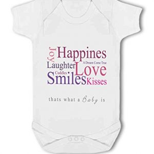 A Baby is Love, Happiness, Cuddles, Kisses, Smiles pink – Baby Vest