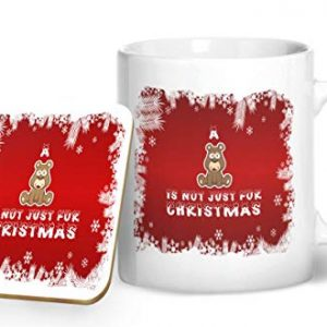A Bear is Not Just for Christmas – Printed Mug & Coaster Gift Set