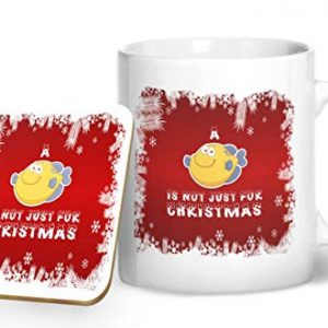 A Fish is Not Just for Christmas – Printed Mug & Coaster Gift Set