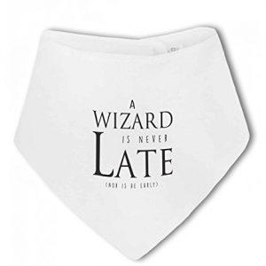 A Wizard is Never Late funny nerdy – Baby Bandana Bib