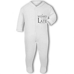 A Wizard is Never Late funny nerdy – Baby Grow
